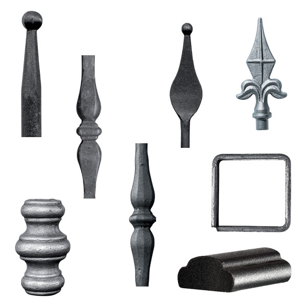 Uprights, accessories and components